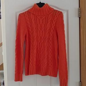 LRL Lauren jeans cable knit turtleneck